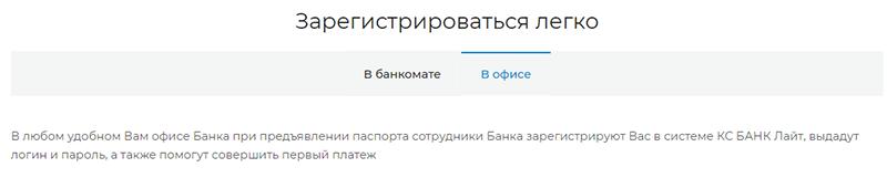 Кс банк официальный кредит