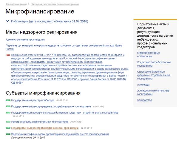 реестр кредитных кооперативов центробанка