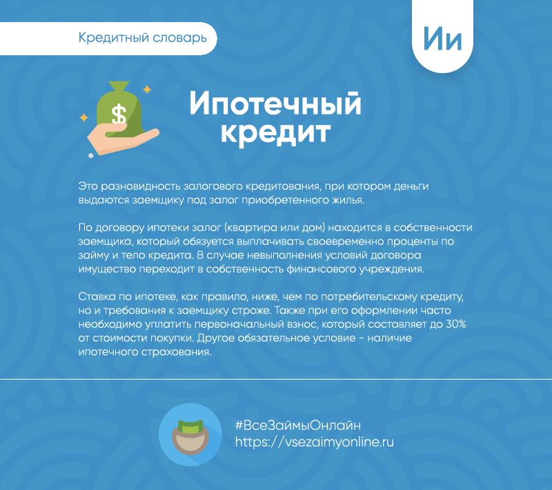 Ипотека это залог или кредит русфинанс банк онлайн кредит